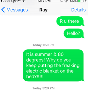 My text to Ray today