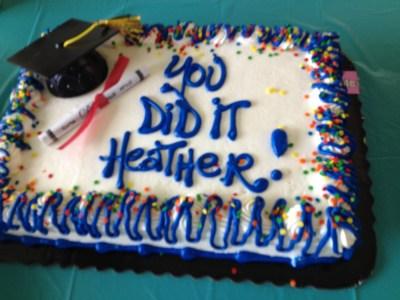 Heather's college graduation cake