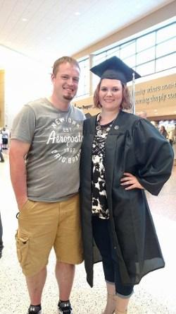 Heather & her boyfriend Matt after her graduation