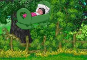 baby in tree top -http://www.crystalinks.com/rockabyebaby.jpg