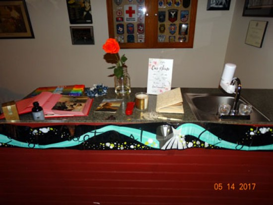Wedding album, guest book, rose & Our Home picture