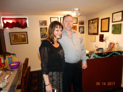 """Me & Ray at 25th """"silver"""" wedding anniversary & home purchase party"""