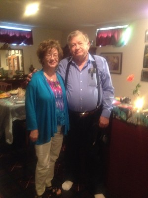 Ray's stepmom Sue & his dad Charles Jones at party
