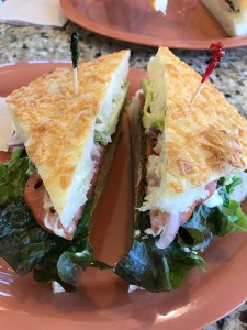 Turkey-avocado-bacon sandwich at Kneaders