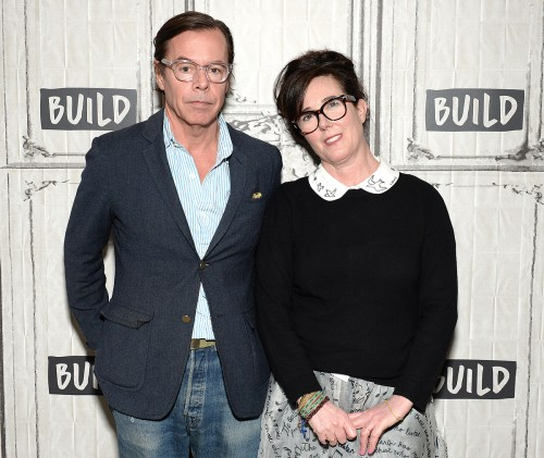 NEW YORK, NY - APRIL 28: Designers Andy Spade and Kate Spade attend AOL Build Series to discuss their latest project Frances Valentine at Build Studio on April 28, 2017 in New York City. (Photo by Andrew Toth/FilmMagic)
