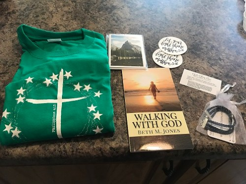 August 2018 box with my book, Walking With God!