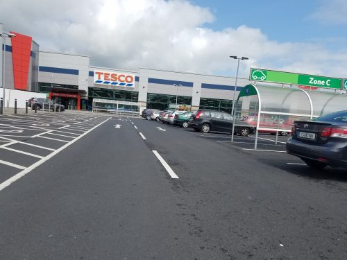 Tesco is like Ireland's Walmart--our first stop!
