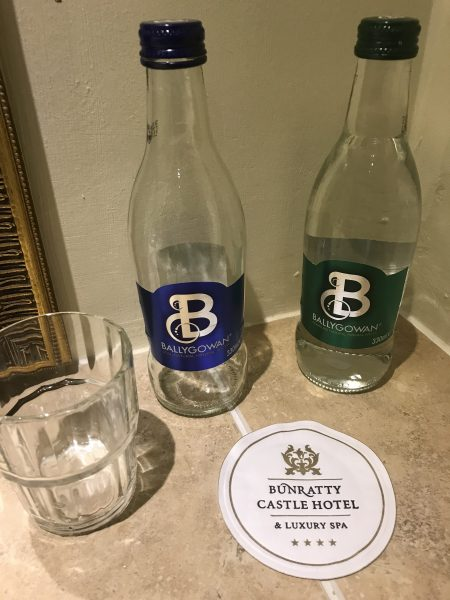 Pure and mineral water provided at hotel