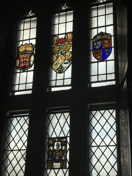 castle's stained glass windows