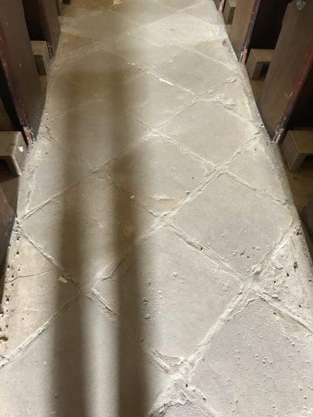stone floor in church