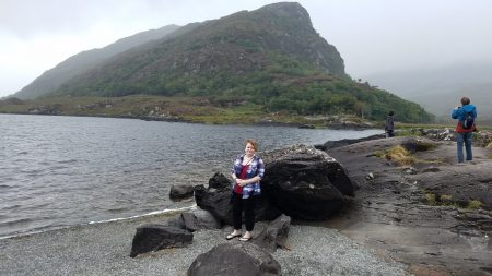 Leah, Killarney National Park mountains by lake
