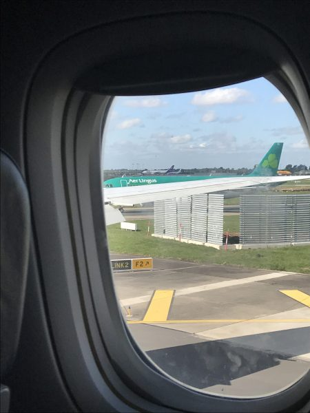 Heading home on Aer Lingus (Ireland airlines)