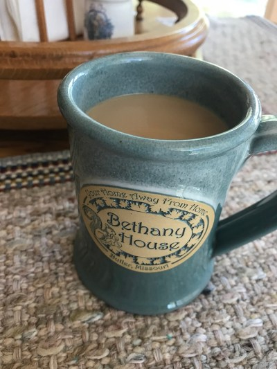 coffee in Bethany House cup