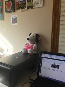 laptop and Snoopy