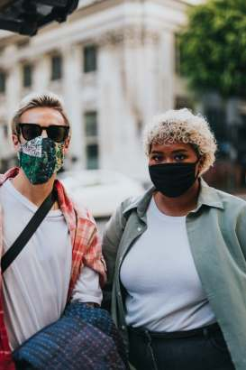 People wearing face masks. Source: Unsplash