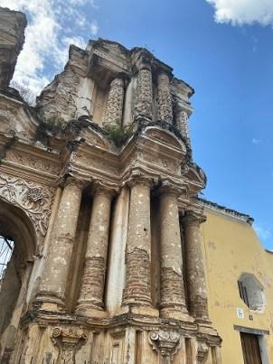 Stunning columns of Iglesia El Carmen