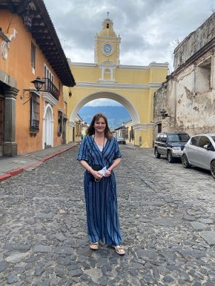 Me by Santa Catalina arch, Antigua, Guatemala