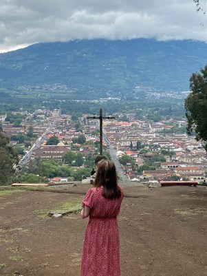Beth Jones praying over the people and land of Guatemala