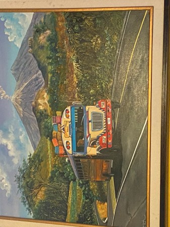chicken bus painting