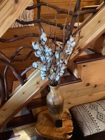 pretty decor with cotton in a vase