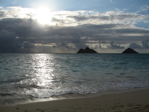 Lanikai Beach--where heaven meets the sea--one of my settings in Paradise Rules