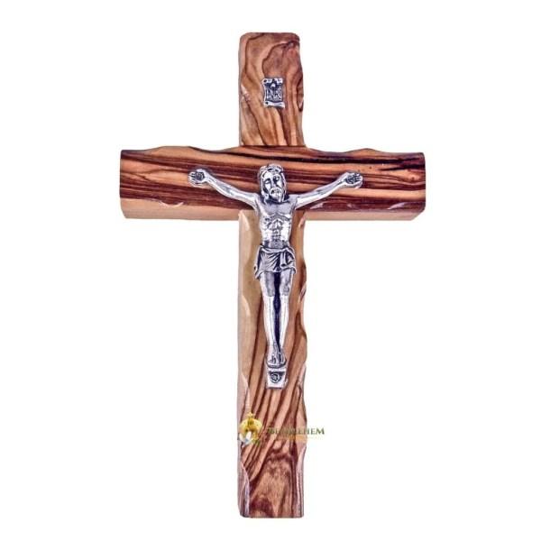Latin Small Wooden Crucifix from Bethlehem