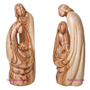 Olive Wood Holy Family Abstract from Bethlehem
