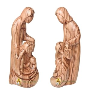 Olive Wood Holy Family with Lantern Large from Bethlehem