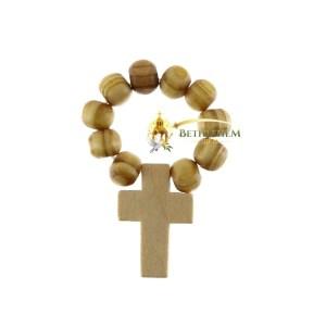Pine wood elastic finger rosary
