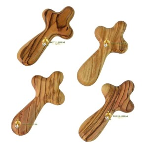 Medium Olive Wood Comfort Cross from Bethlehem