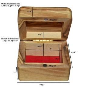 Olive Wood Rosary Box Size