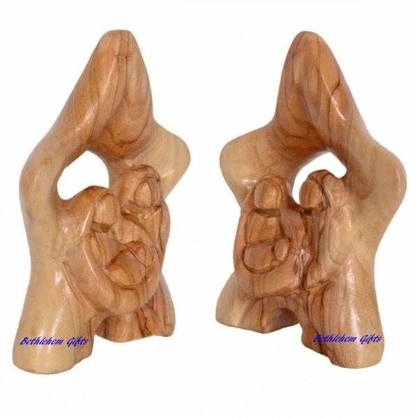 Wooden Star Holy Family