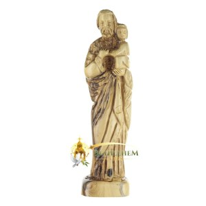 Hand crafted olive wood St. Joseph Large, from Bethlehem