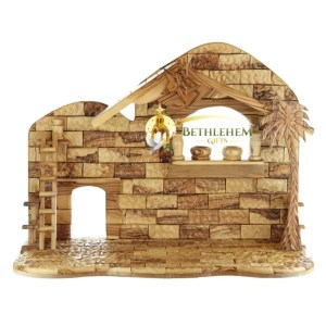 Olive Wood Manger from Bethlehem