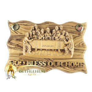 Olive Wood Last Supper Plaque from Bethlehem