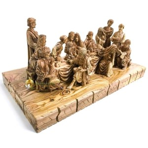 Olive Wood Last Supper Table from Bethlehem