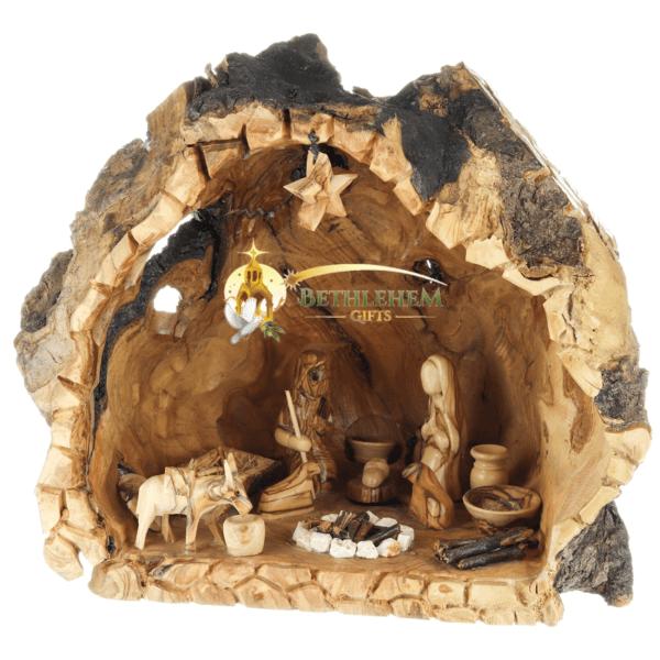 Olive Wood Nativity Cave from Bethlehem