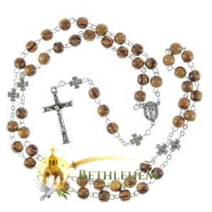 Olive Wood Chain Rosary from Jerusalem