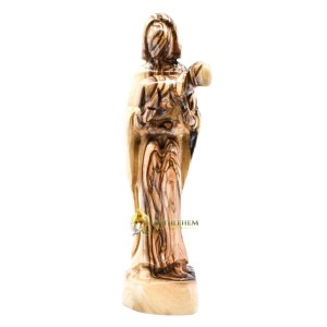 Olive Wood Good Shepherd Abstract from Bethlehem