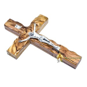Olive Wood Medium Latin Crucifix from Bethlehem
