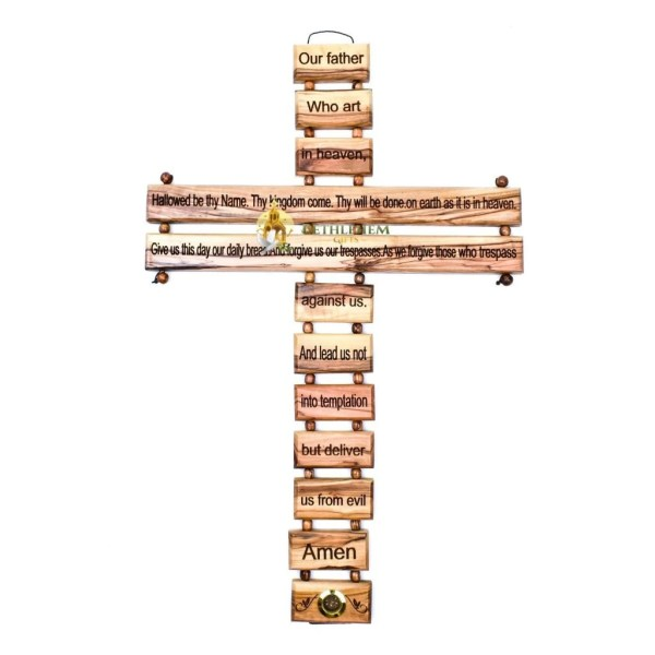 The Lord's Prayer Cross Large from Bethlehem
