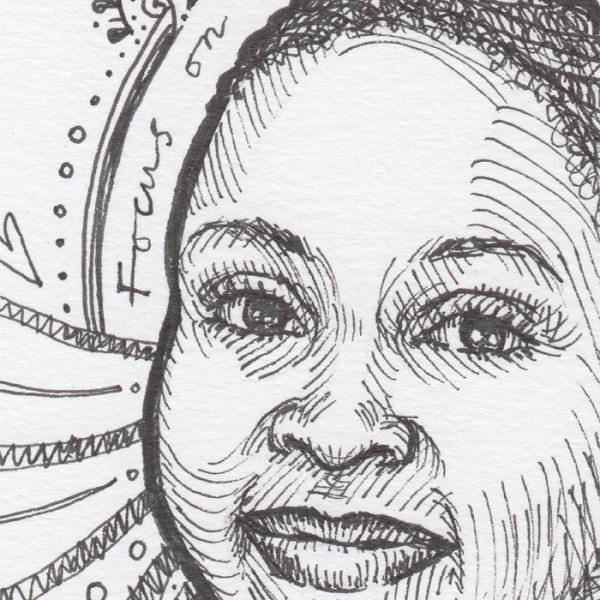 Honest Joy Ink Drawings