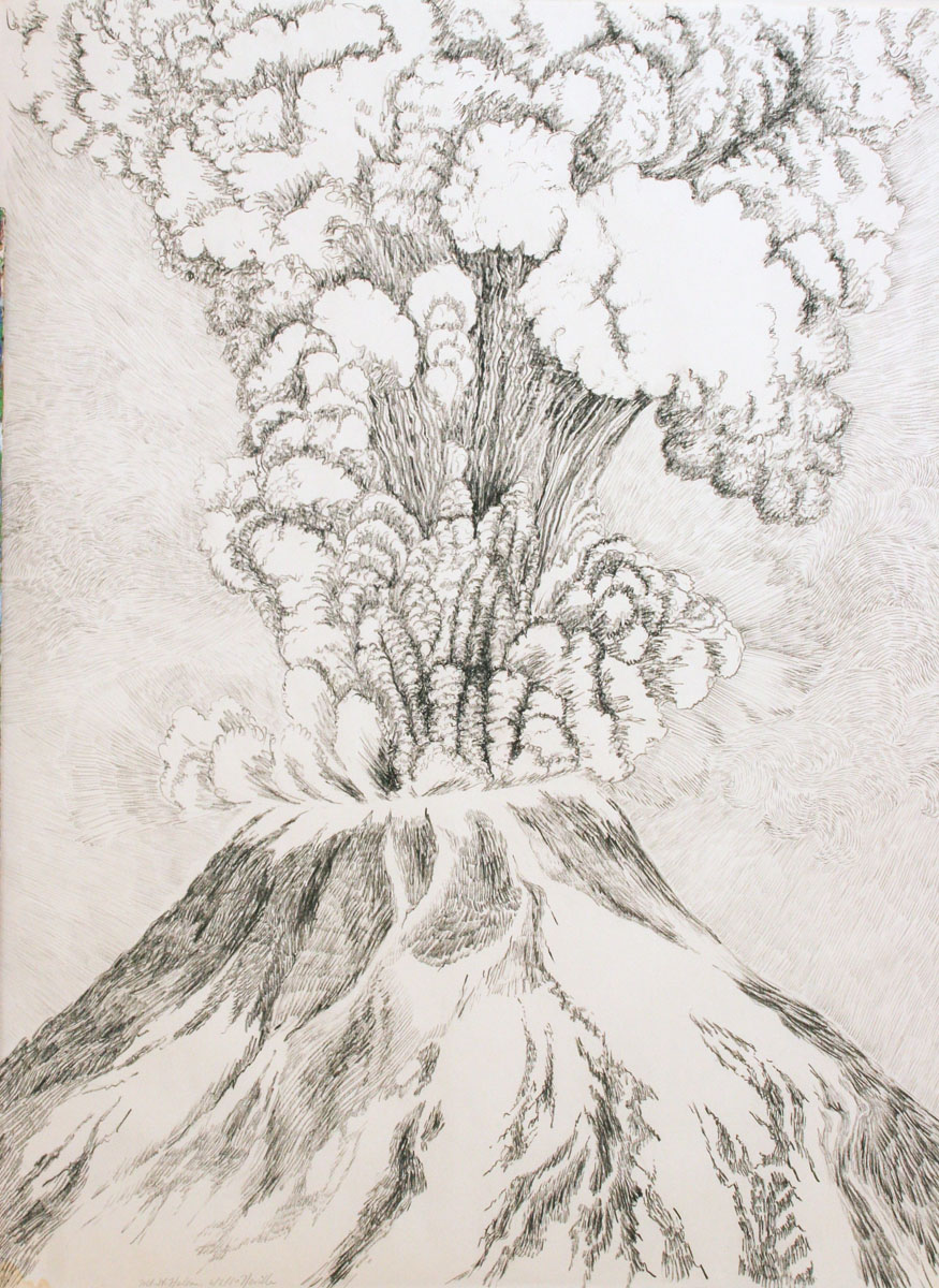 graphite Study, Mt St Helens