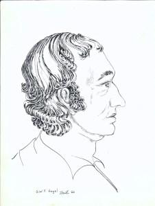 drawing: G.W.F. Hegel portrait