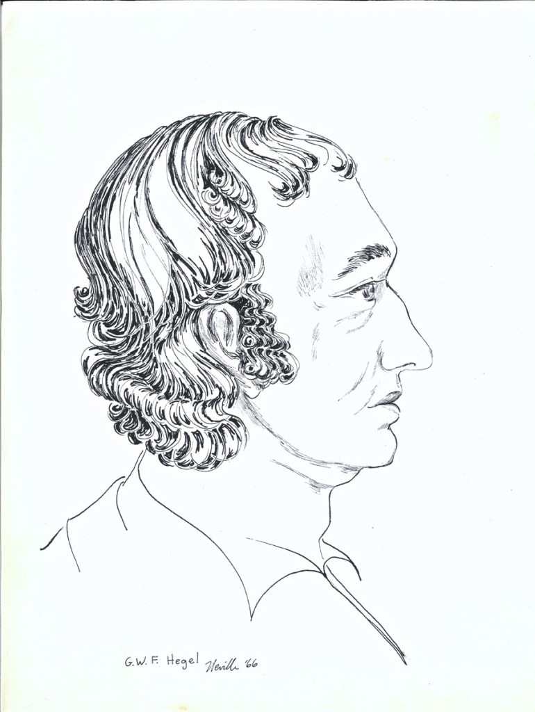 drawing: G.W.F. Hegel portrait