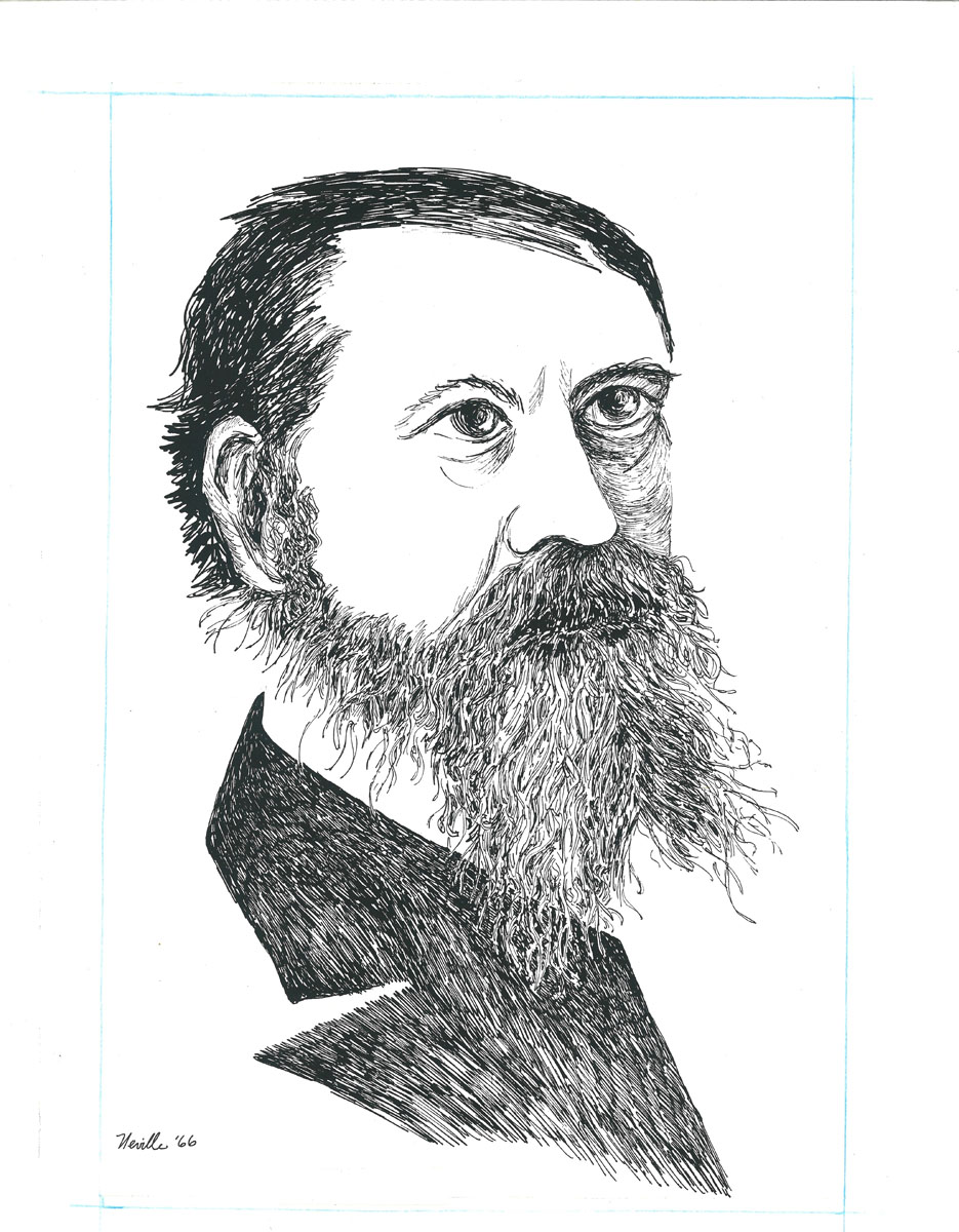 drawing: Charles Sanders Peirce portrait