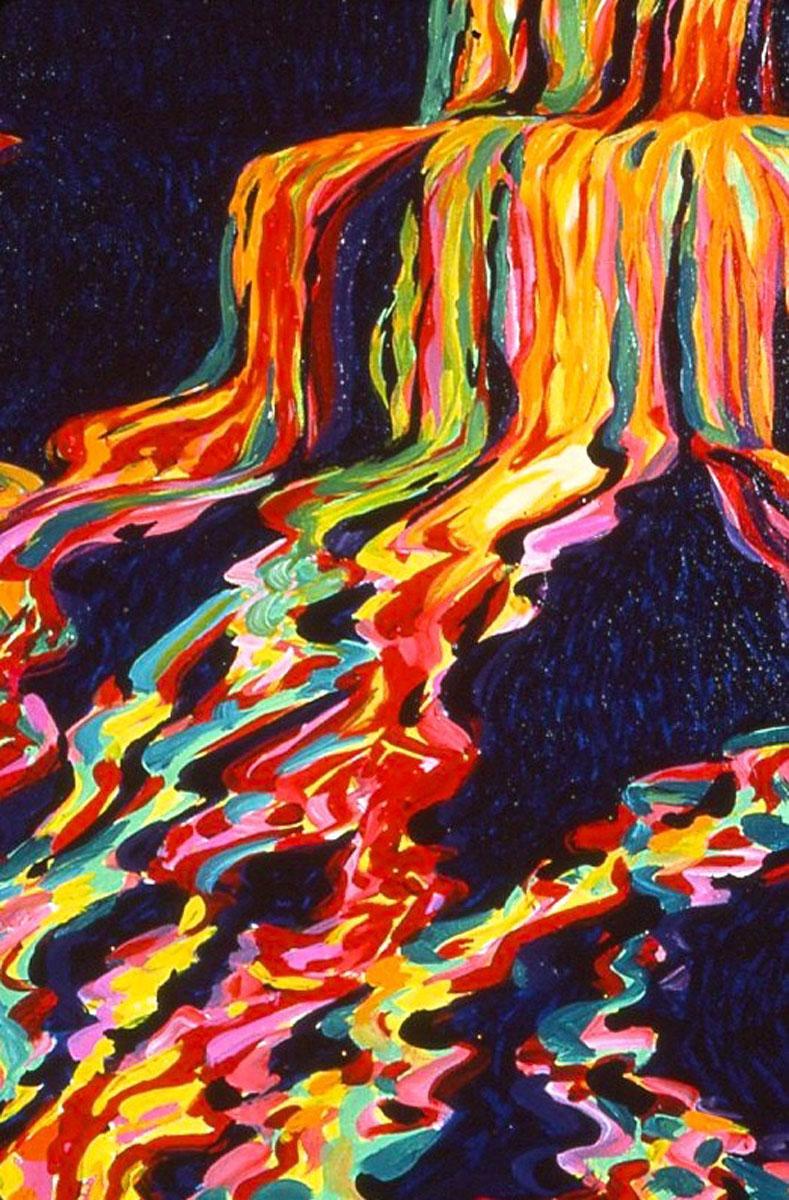 Lava Flow painting, detail