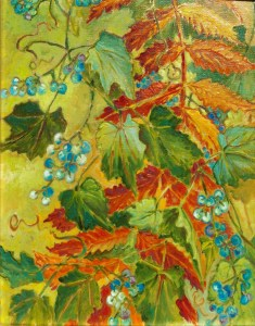 Wild Berries Turner's Pond: oil painting
