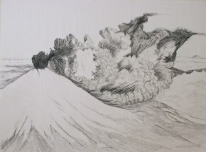 Plume, Mt. St. Helens: graphite on paper