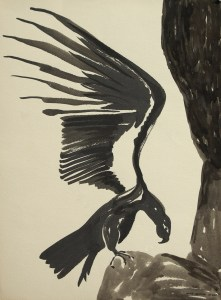 black sumi-e ink: Raven of Death Succeeds